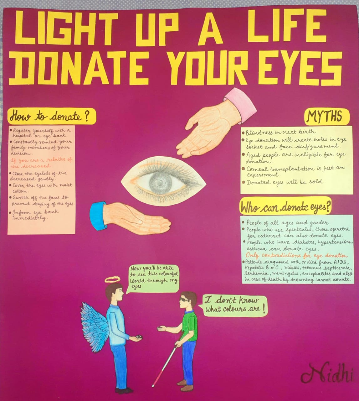 Poster competition on35th National Eye Donation Fortnight