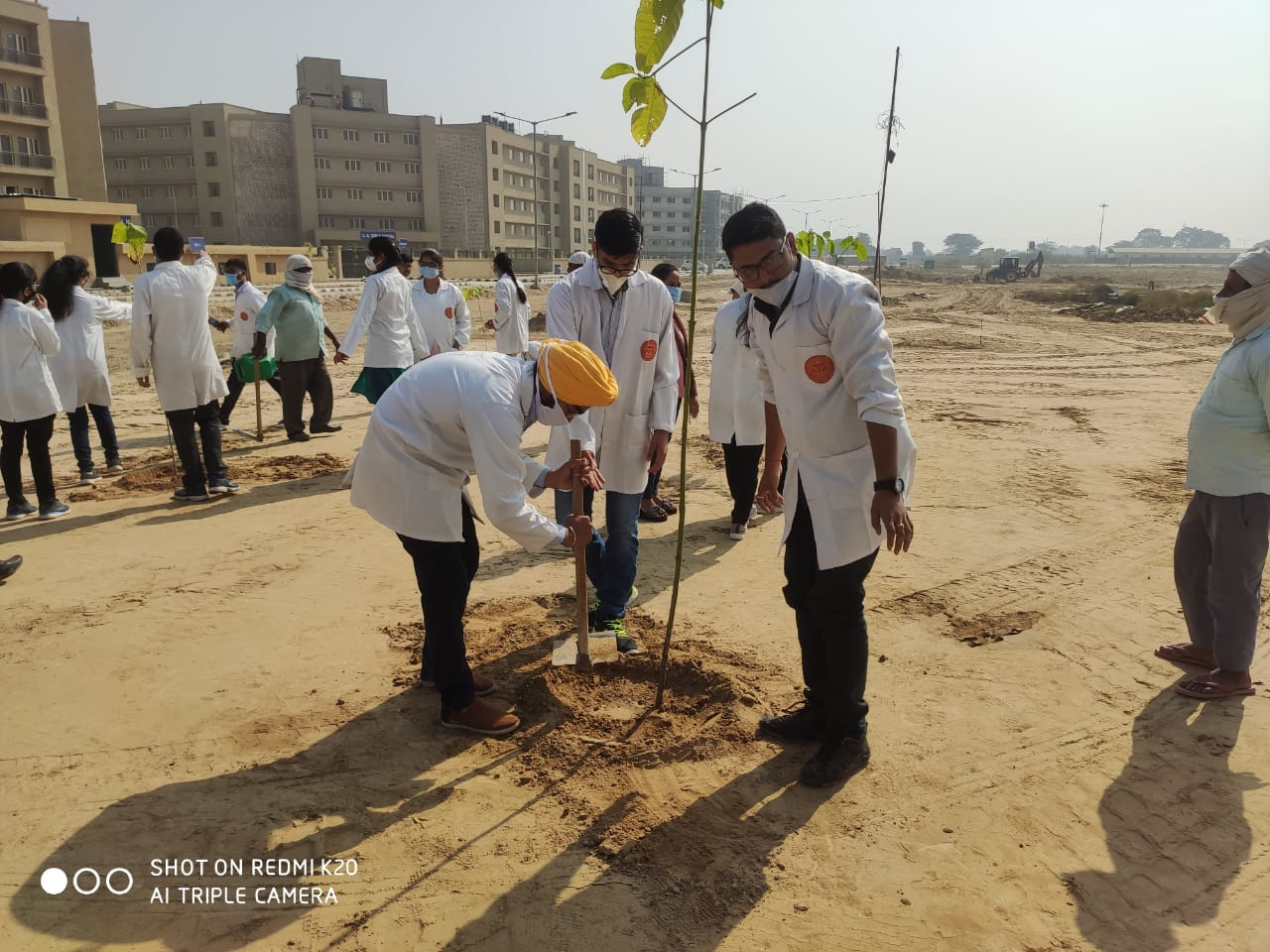Plantation drive at AIIMS Bathinda on 1st Nov 2020. Creating the