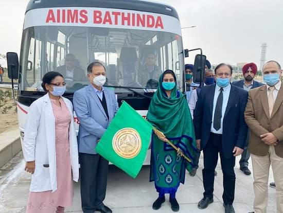 Inauguration of Bus Service for rural health services
